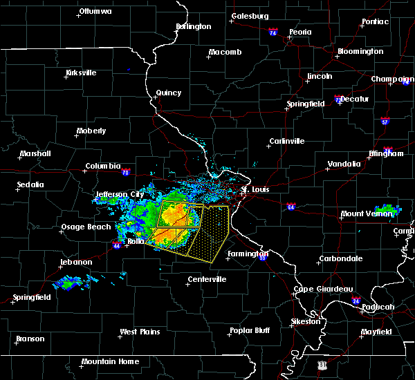Radar Image for Severe Thunderstorms near Peaceful Village, MO at 8/9/2015 7:05 PM CDT