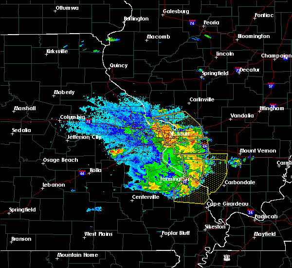 Radar Image for Severe Thunderstorms near Chester, IL at 8/9/2015 8:45 PM CDT
