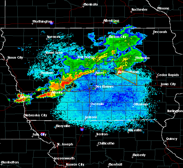 Radar Image for Severe Thunderstorms near Vining, IA at 8/10/2015 12:03 AM CDT