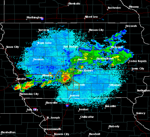 Radar Image for Severe Thunderstorms near Osceola, IA at 8/10/2015 1:02 AM CDT