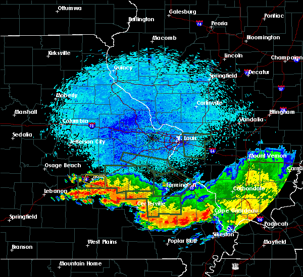 Radar Image for Severe Thunderstorms near Rolla, MO at 8/10/2015 1:44 AM CDT