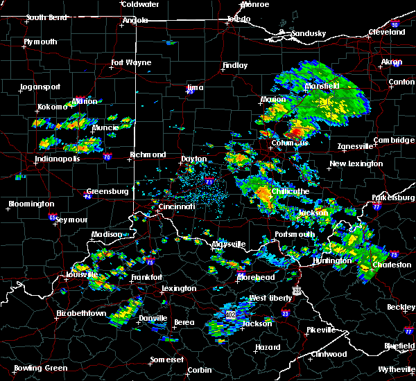 Radar Image for Severe Thunderstorms near Alexandria, OH at 8/10/2015 1:48 PM EDT