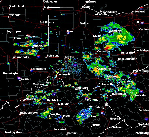 Radar Image for Severe Thunderstorms near Alexandria, OH at 8/10/2015 1:58 PM EDT