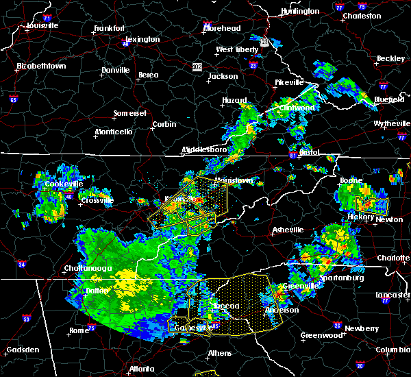 Radar Image for Severe Thunderstorms near Mascot, TN at 8/10/2015 5:44 PM EDT