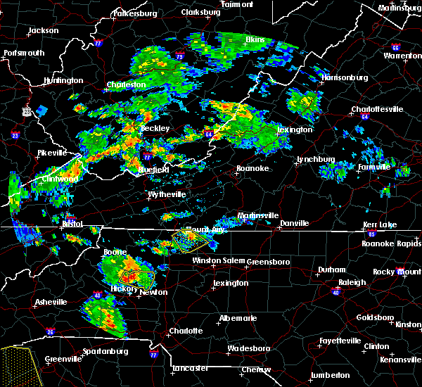 Radar Image for Severe Thunderstorms near Taylorsville, NC at 8/10/2015 5:48 PM EDT
