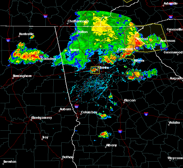 Radar Image for Severe Thunderstorms near Atlanta, GA at 8/10/2015 5:53 PM EDT