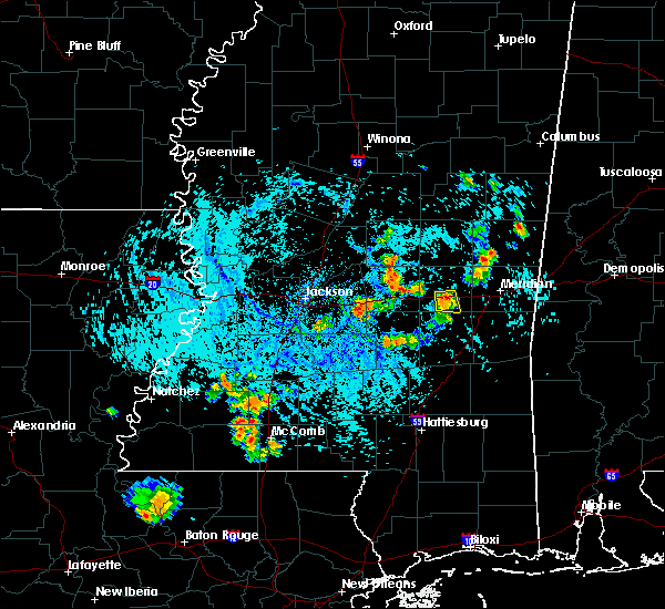 Radar Image for Severe Thunderstorms near Newton, MS at 8/10/2015 4:53 PM CDT