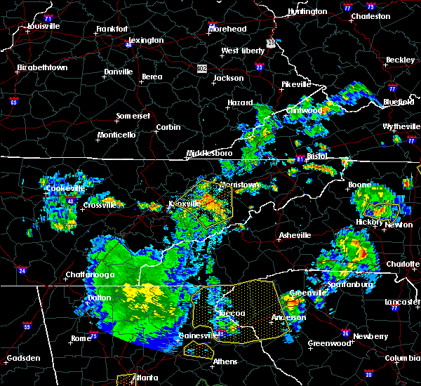Radar Image for Severe Thunderstorms near Gatlinburg, TN at 8/10/2015 6:02 PM EDT