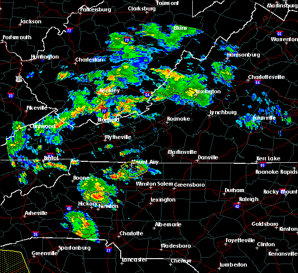 Radar Image for Severe Thunderstorms near Taylorsville, NC at 8/10/2015 6:13 PM EDT