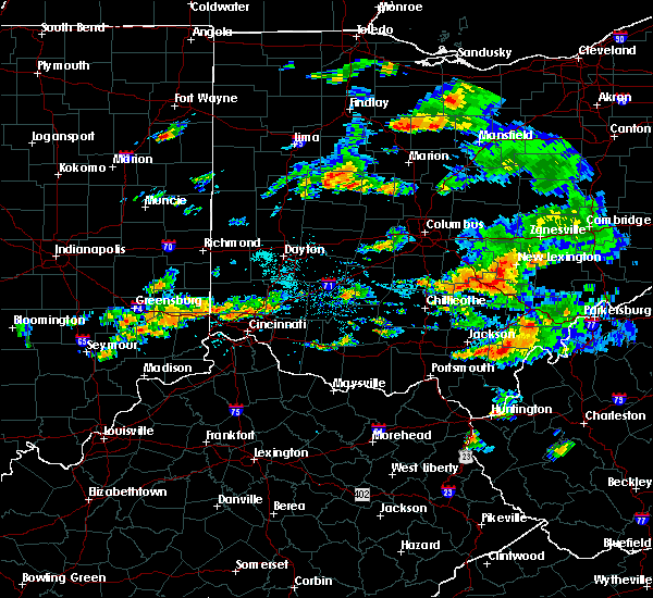 Radar Image for Severe Thunderstorms near Logan, OH at 8/10/2015 6:15 PM EDT