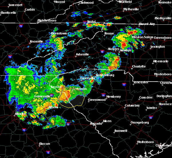 Radar Image for Severe Thunderstorms near Donalds, SC at 8/10/2015 6:34 PM EDT