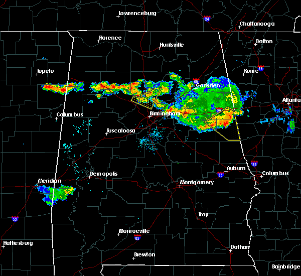 Radar Image for Severe Thunderstorms near Mount Olive, AL at 8/10/2015 7:09 PM CDT