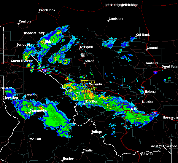 Radar Image for Severe Thunderstorms near Piltzville, MT at 8/10/2015 6:26 PM MDT