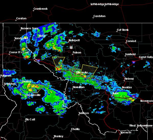 Radar Image for Severe Thunderstorms near Piltzville, MT at 8/10/2015 6:59 PM MDT