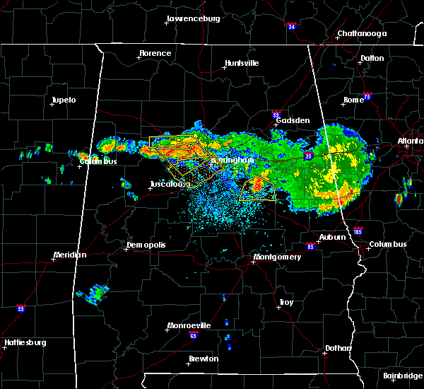 Radar Image for Severe Thunderstorms near Birmingham, AL at 8/10/2015 8:18 PM CDT