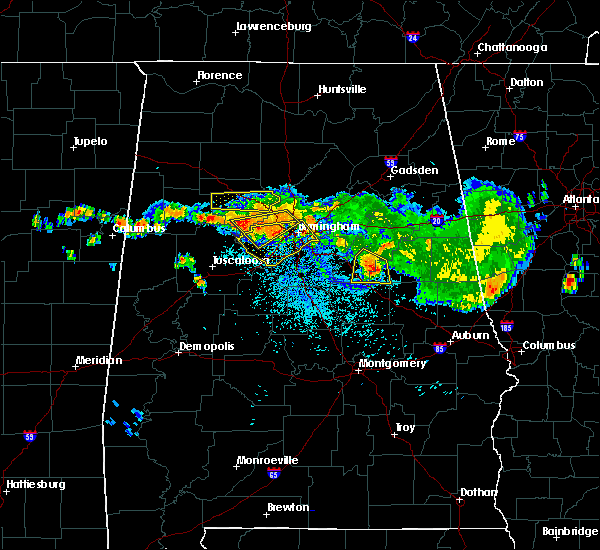 Radar Image for Severe Thunderstorms near Birmingham, AL at 8/10/2015 8:30 PM CDT