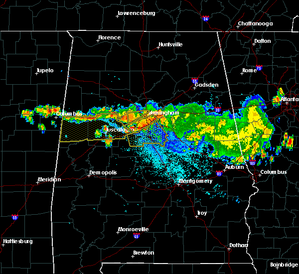 Radar Image for Severe Thunderstorms near Birmingham, AL at 8/10/2015 9:01 PM CDT