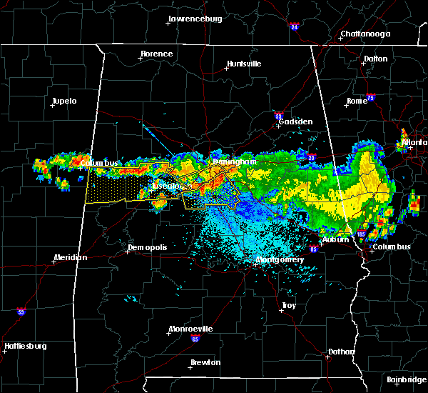 Radar Image for Severe Thunderstorms near Montevallo, AL at 8/10/2015 9:10 PM CDT