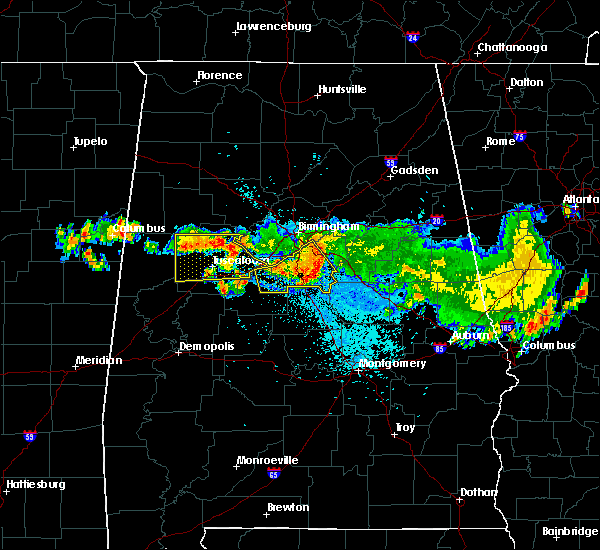 Radar Image for Severe Thunderstorms near Tuscaloosa, AL at 8/10/2015 9:23 PM CDT