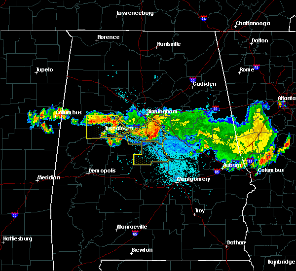 Radar Image for Severe Thunderstorms near Clanton, AL at 8/10/2015 9:26 PM CDT