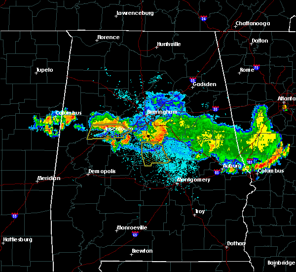 Radar Image for Severe Thunderstorms near Clanton, AL at 8/10/2015 9:44 PM CDT