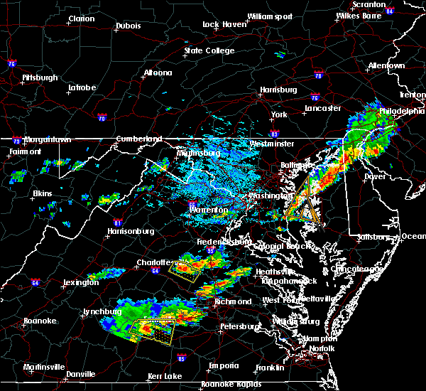 Radar Image for Severe Thunderstorms near Mineral, VA at 8/11/2015 4:09 PM EDT