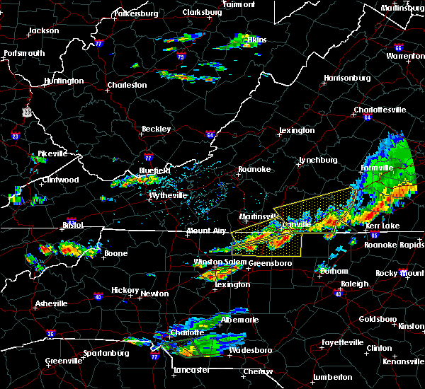 Radar Image for Severe Thunderstorms near Eden, NC at 8/11/2015 5:05 PM EDT