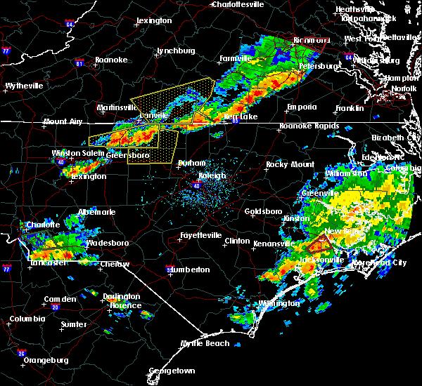 Radar Image for Severe Thunderstorms near South Boston, VA at 8/11/2015 5:21 PM EDT