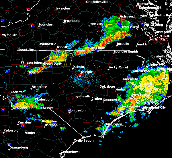 Radar Image for Severe Thunderstorms near Glen Raven, NC at 8/11/2015 5:38 PM EDT