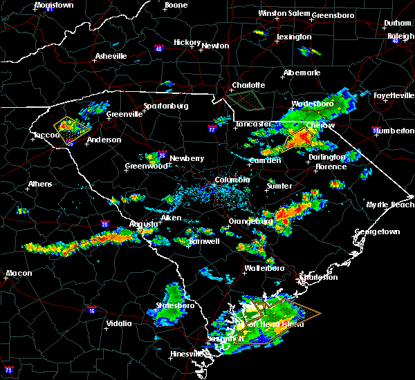 Radar Image for Severe Thunderstorms near Patrick, SC at 8/11/2015 6:38 PM EDT