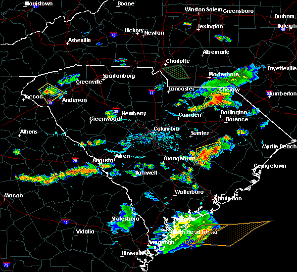Radar Image for Severe Thunderstorms near Alcolu, SC at 8/11/2015 6:45 PM EDT
