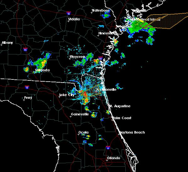 Radar Image for Severe Thunderstorms near Jacksonville, FL at 8/11/2015 7:03 PM EDT