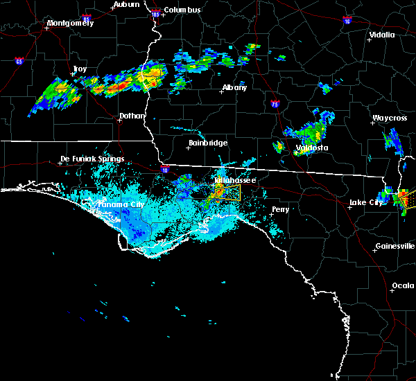 Radar Image for Severe Thunderstorms near Tallahassee, FL at 8/11/2015 7:09 PM EDT
