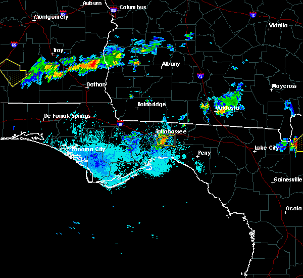 Radar Image for Severe Thunderstorms near Tallahassee, FL at 8/11/2015 7:23 PM EDT