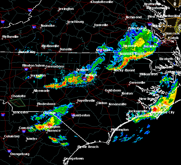 Radar Image for Severe Thunderstorms near Kenly, NC at 8/11/2015 7:29 PM EDT