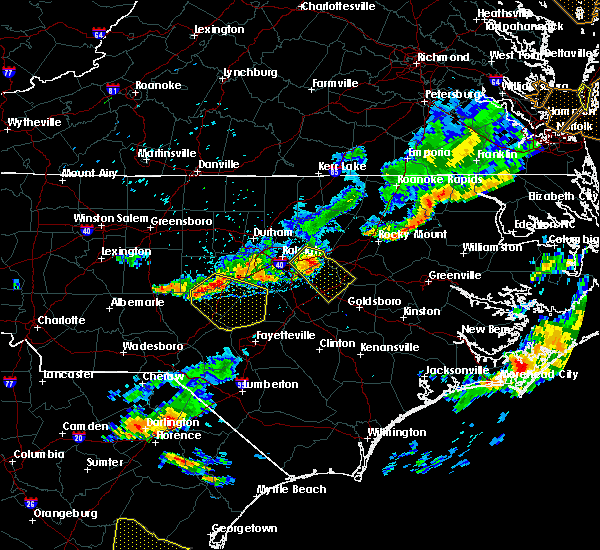 Radar Image for Severe Thunderstorms near Moncure, NC at 8/11/2015 7:34 PM EDT