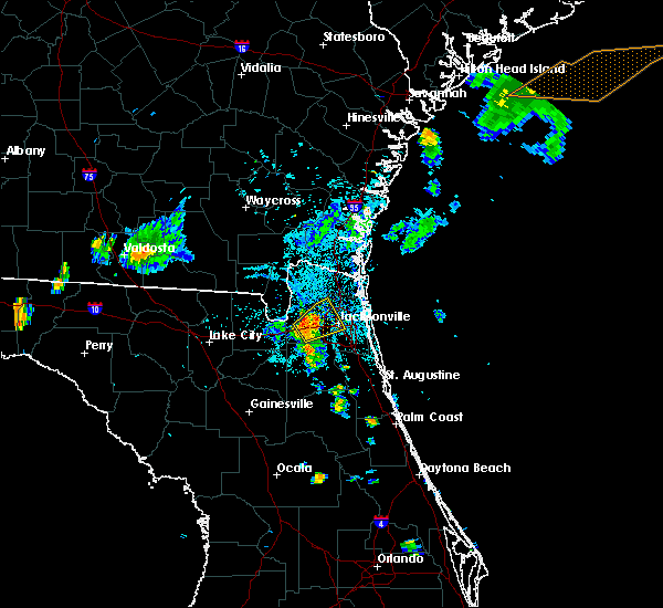 Radar Image for Severe Thunderstorms near Nassau Village-Ratliff, FL at 8/11/2015 7:40 PM EDT