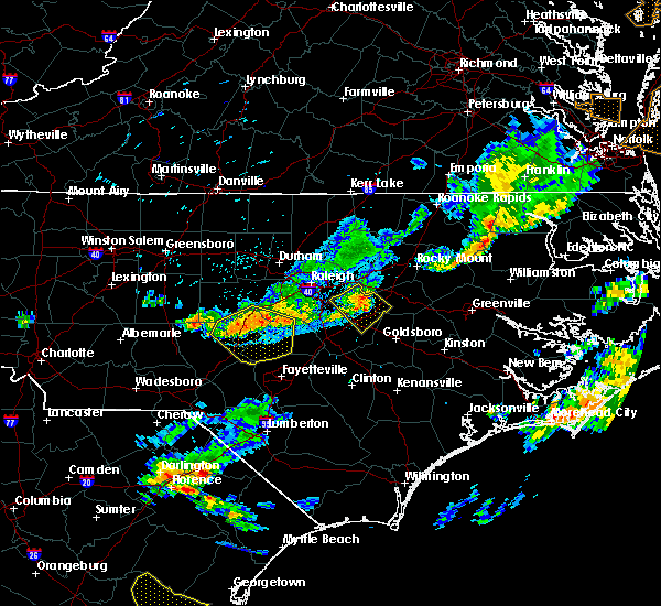 Radar Image for Severe Thunderstorms near Smithfield, NC at 8/11/2015 7:56 PM EDT