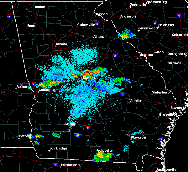 Radar Image for Severe Thunderstorms near Macon, GA at 8/11/2015 9:33 PM EDT