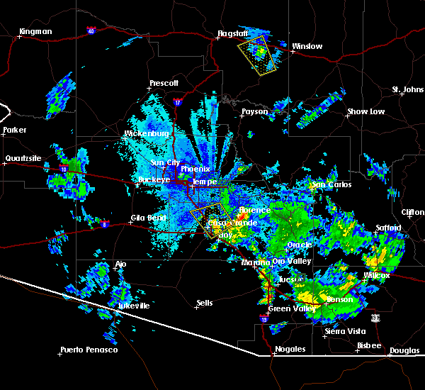 Radar Image for Severe Thunderstorms near Florence, AZ at 8/11/2015 8:47 PM MST