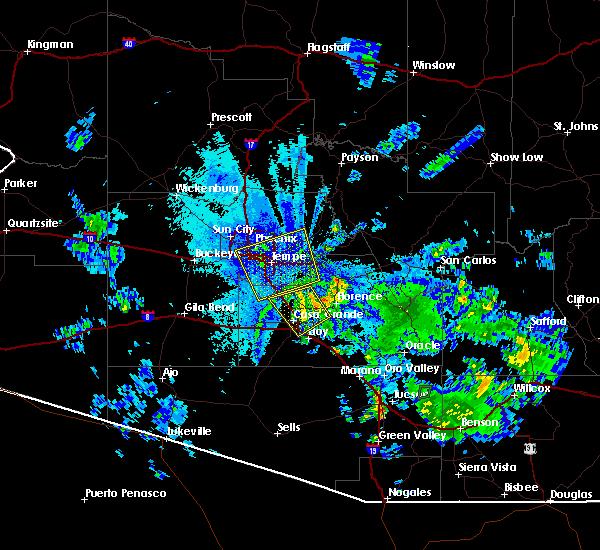 Radar Image for Severe Thunderstorms near Maricopa, AZ at 8/11/2015 9:06 PM MST