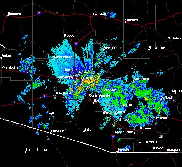 Radar Image for Severe Thunderstorms near Maricopa, AZ at 8/11/2015 9:33 PM MST