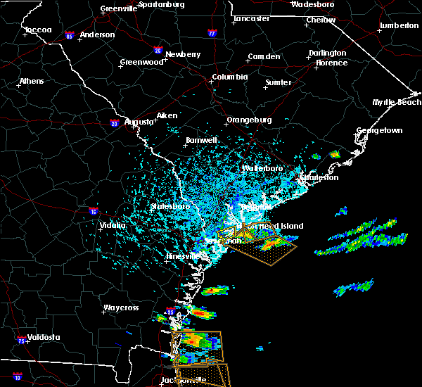 Radar Image for Severe Thunderstorms near Bluffton, SC at 8/12/2015 4:37 PM EDT