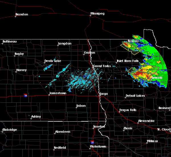 Radar Image for Severe Thunderstorms near Redby, MN at 8/12/2015 5:36 PM CDT