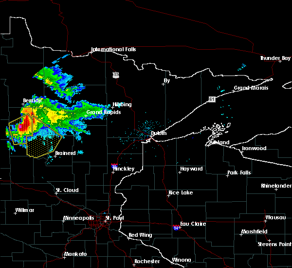 Radar Image for Severe Thunderstorms near Pequot Lakes, MN at 8/12/2015 6:49 PM CDT
