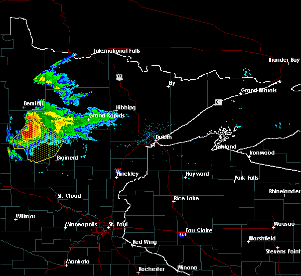 Radar Image for Severe Thunderstorms near Laporte, MN at 8/12/2015 6:58 PM CDT