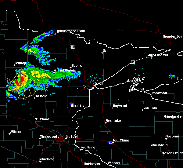 Radar Image for Severe Thunderstorms near Pequot Lakes, MN at 8/12/2015 7:07 PM CDT