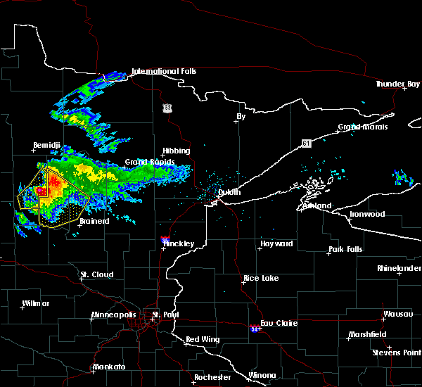 Radar Image for Severe Thunderstorms near Laporte, MN at 8/12/2015 7:14 PM CDT