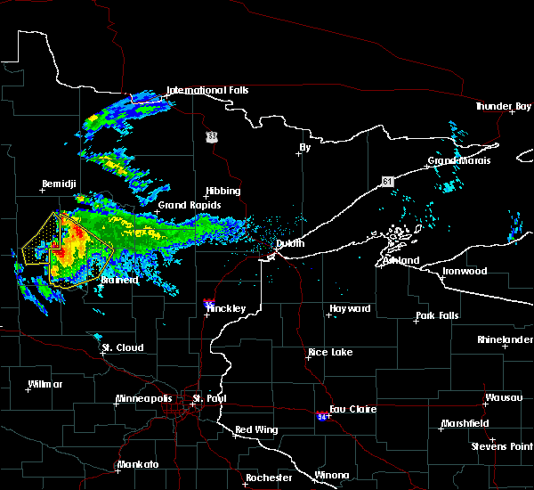 Radar Image for Severe Thunderstorms near Pequot Lakes, MN at 8/12/2015 7:23 PM CDT