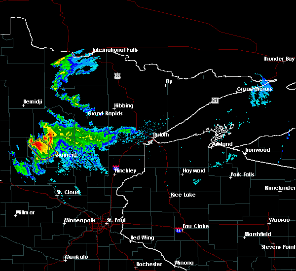 Radar Image for Severe Thunderstorms near Pequot Lakes, MN at 8/12/2015 7:51 PM CDT